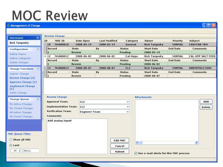 MOC Review