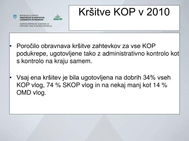 Kršitve KOP v 2010