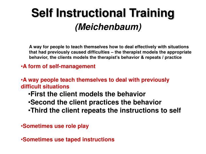 Self Instructional Training