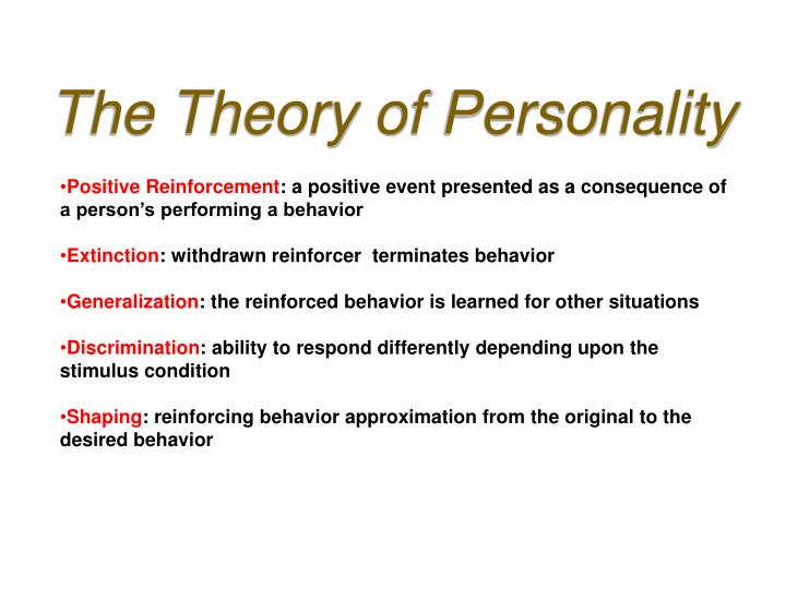 The Theory of Personality