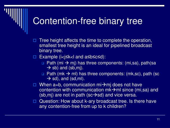 Contention-free binary tree