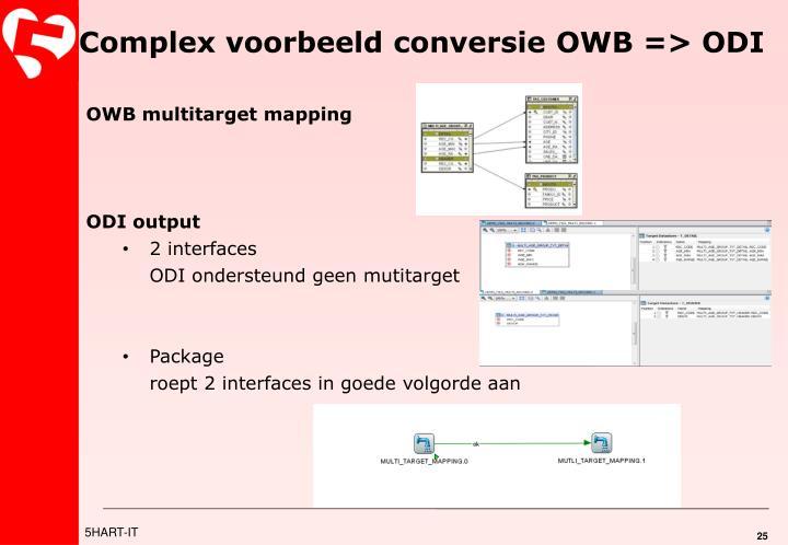 Complex voorbeeld conversie OWB => ODI