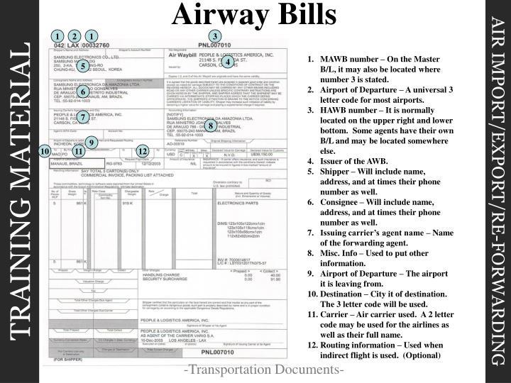 Airway Bills
