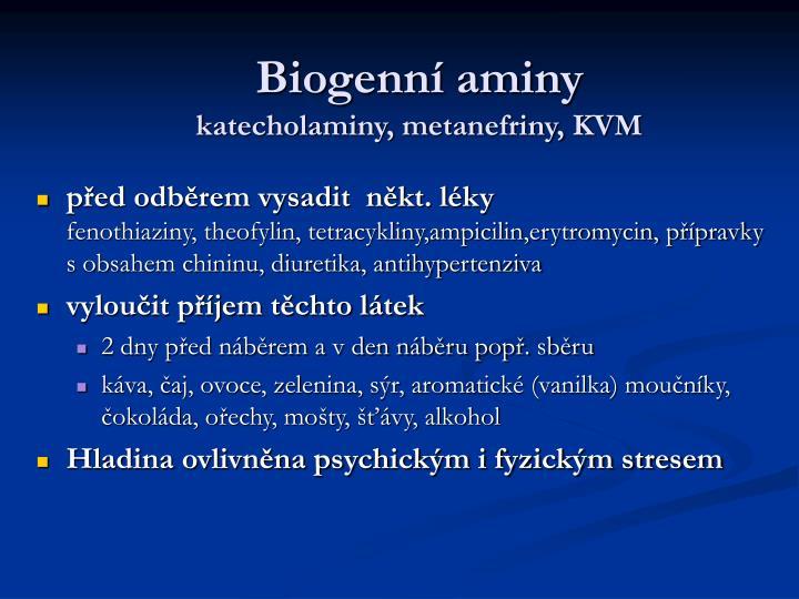 Biogenní aminy