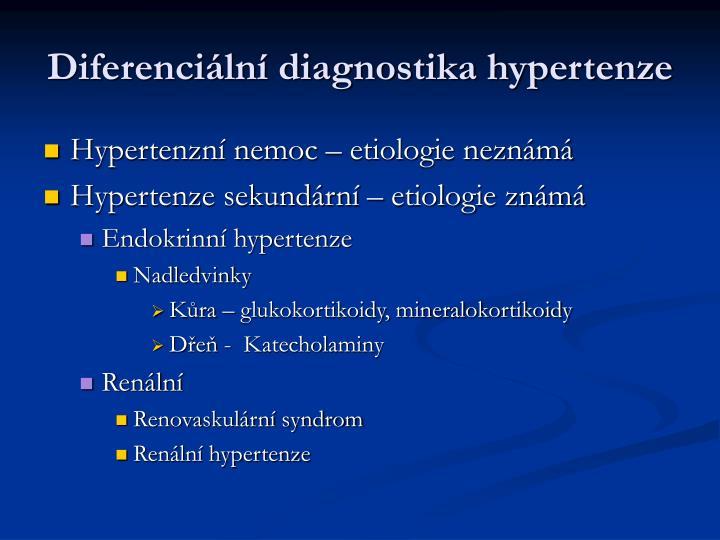 Diferenciální diagnostika hypertenze