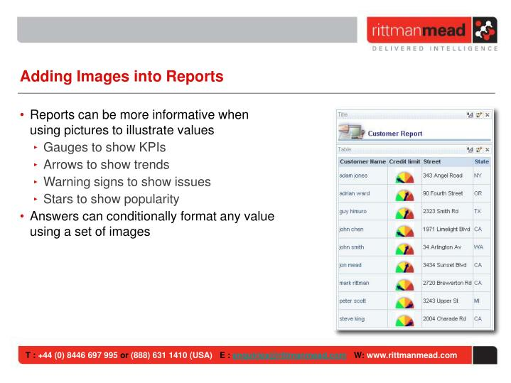 Adding Images into Reports