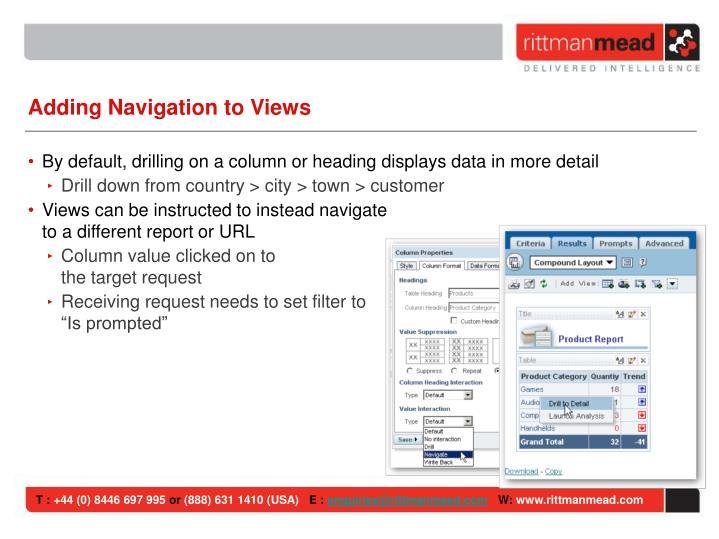 Adding Navigation to Views