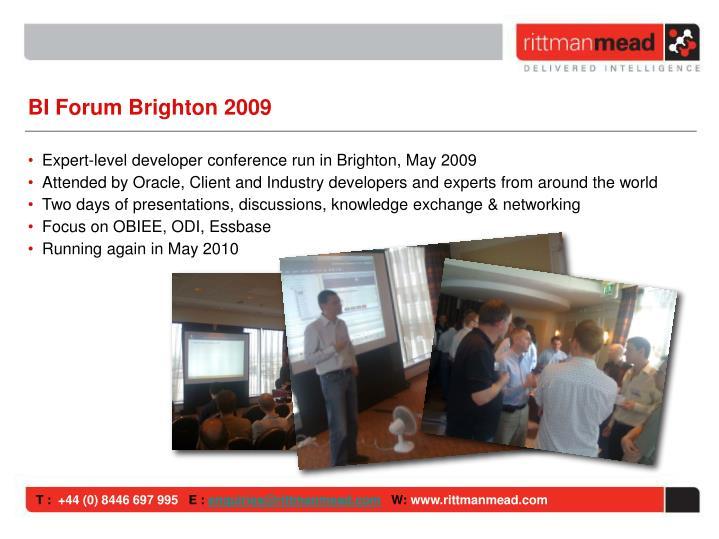 BI Forum Brighton 2009
