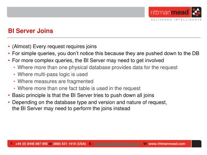 BI Server Joins