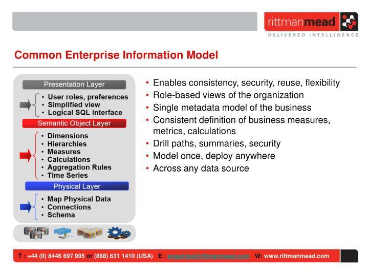 Common Enterprise Information Model