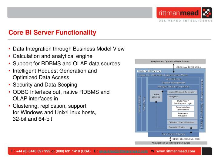 Core BI Server Functionality