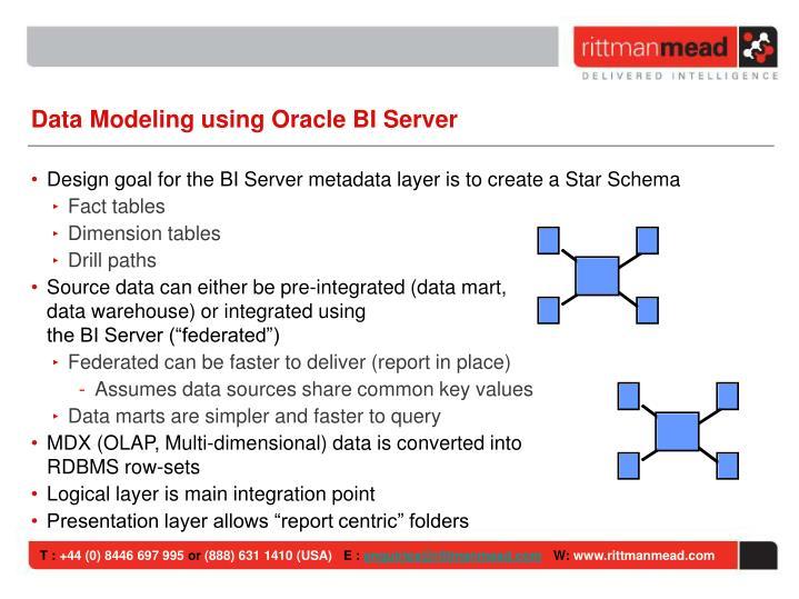 Data Modeling using Oracle BI Server