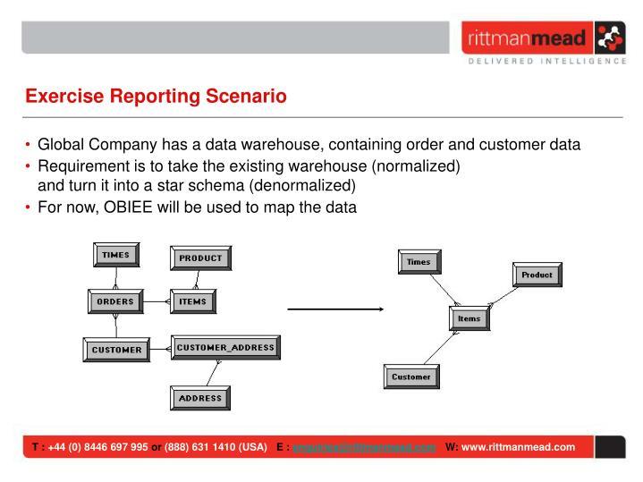 Exercise Reporting Scenario