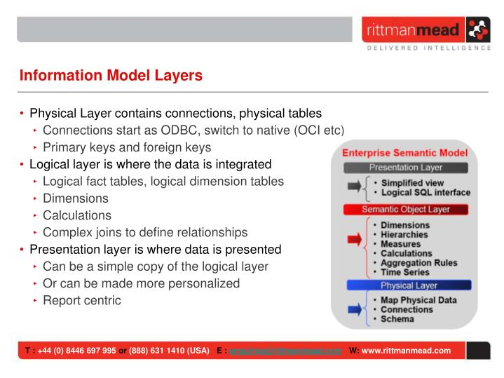 Information Model Layers