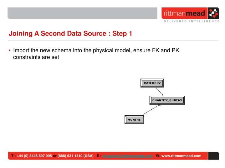 Joining A Second Data Source : Step 1