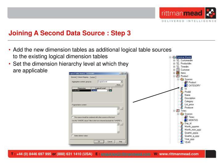 Joining A Second Data Source : Step 3