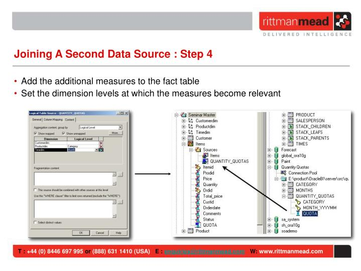 Joining A Second Data Source : Step 4