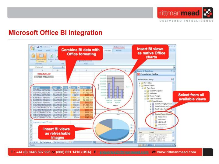 Microsoft Office BI Integration