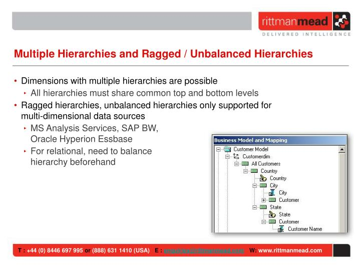 Multiple Hierarchies and Ragged / Unbalanced Hierarchies