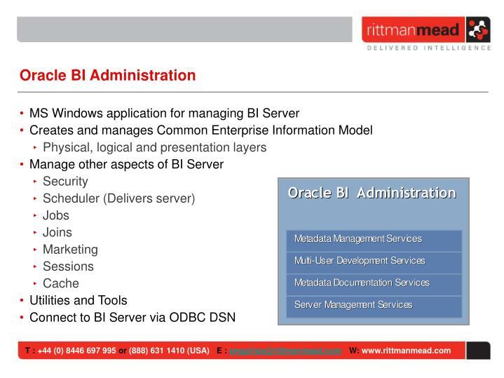 Oracle BI Administration