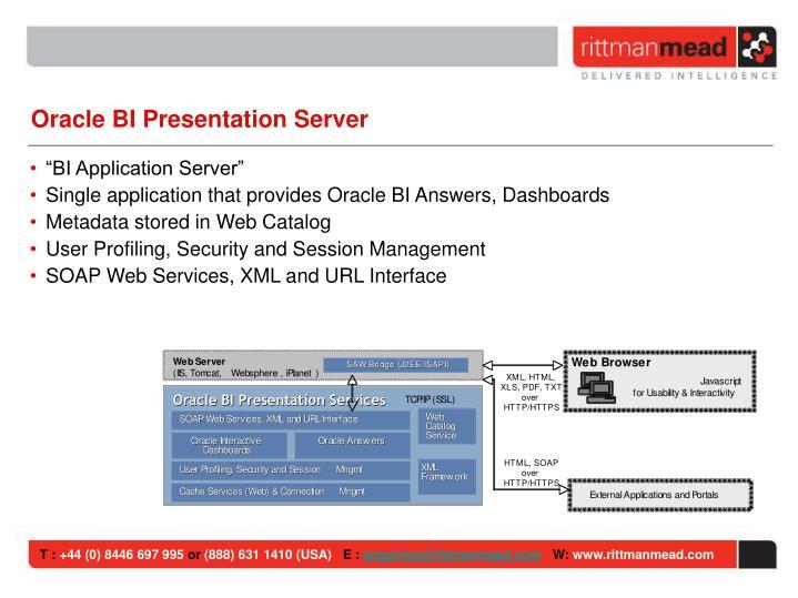 Oracle BI Presentation Server