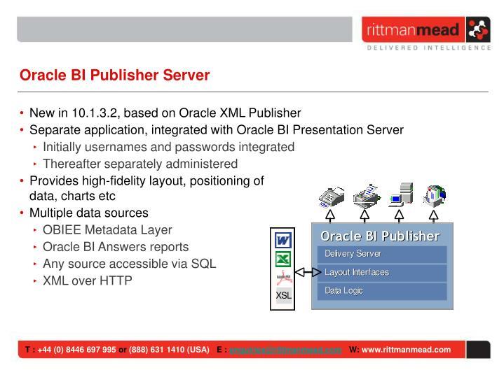 Oracle BI Publisher Server