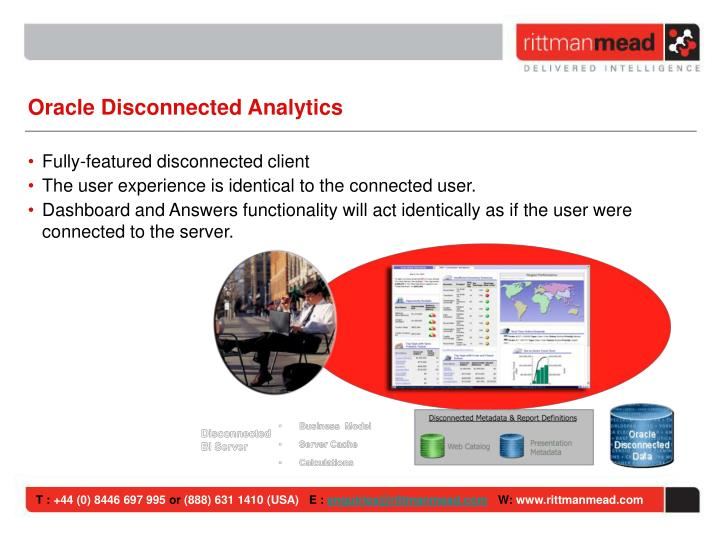 Oracle Disconnected Analytics