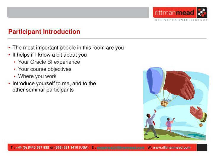 Participant Introduction
