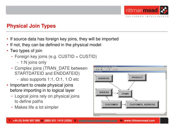Physical Join Types
