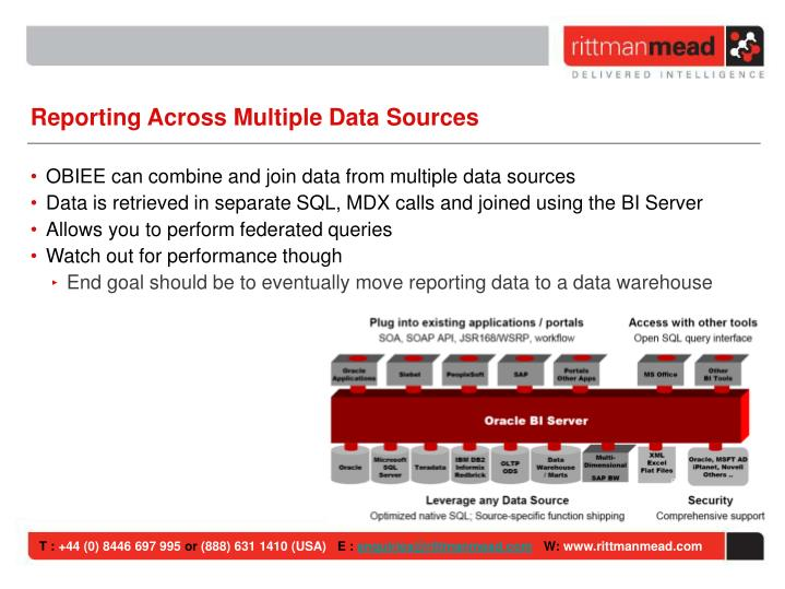 Reporting Across Multiple Data Sources