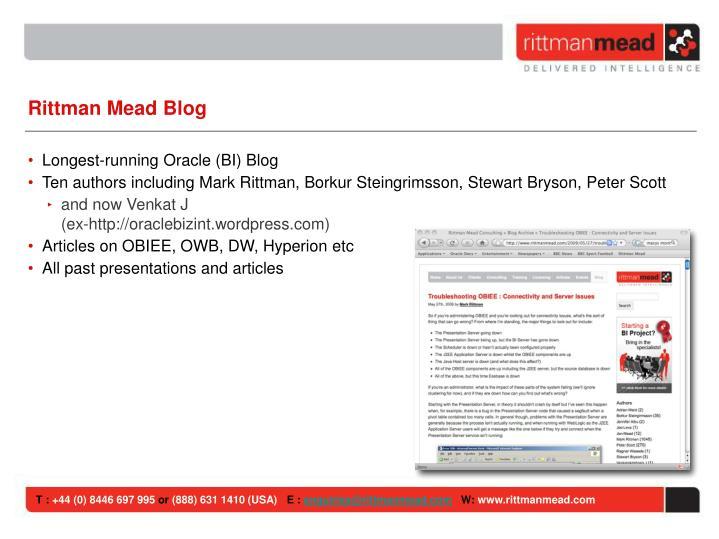 Rittman Mead Blog