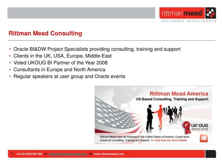 Rittman Mead Consulting