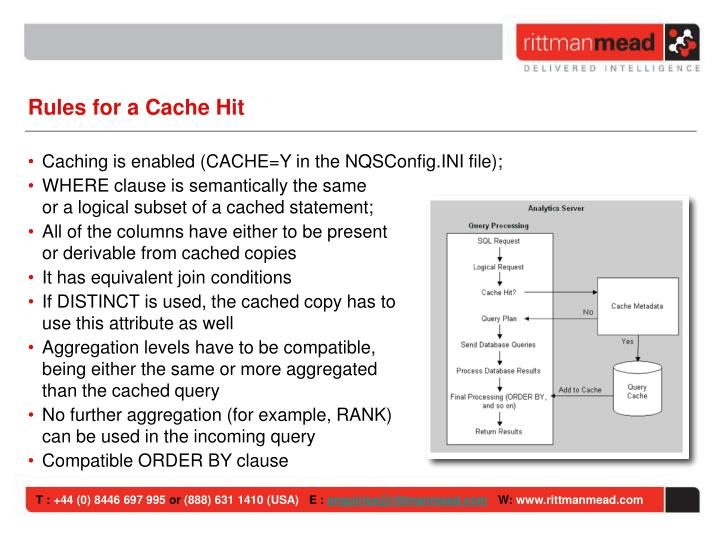 Rules for a Cache Hit