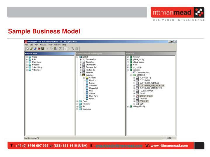 Sample Business Model