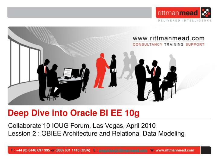 Deep Dive into Oracle BI EE 10g