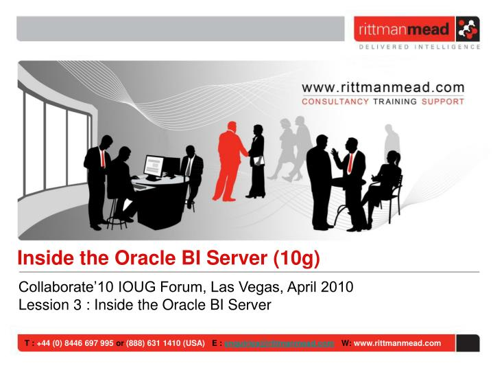 Inside the Oracle BI Server (10g)