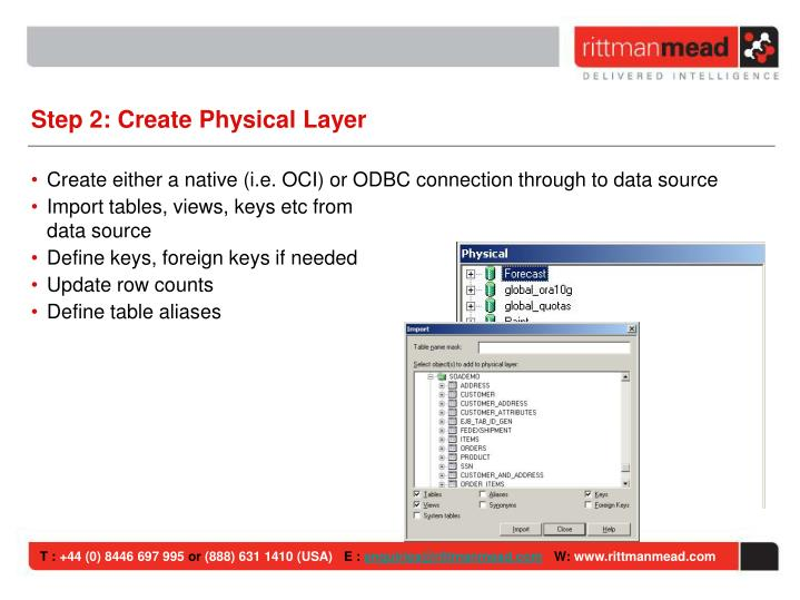 Step 2: Create Physical Layer