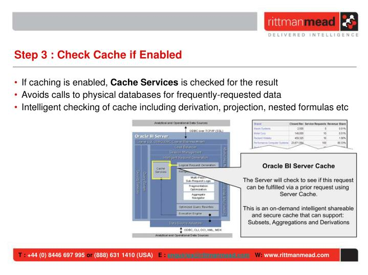 Step 3 : Check Cache if Enabled