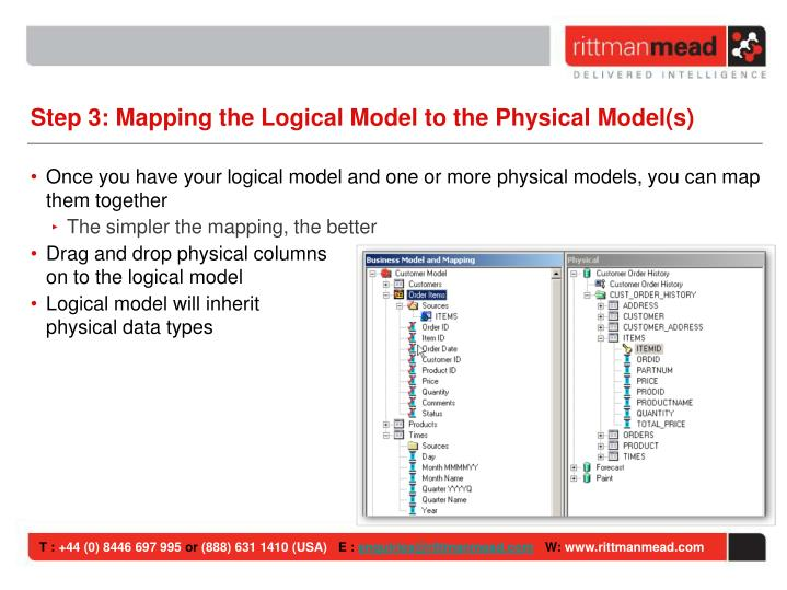 Step 3: Mapping the Logical Model to the Physical Model(s)