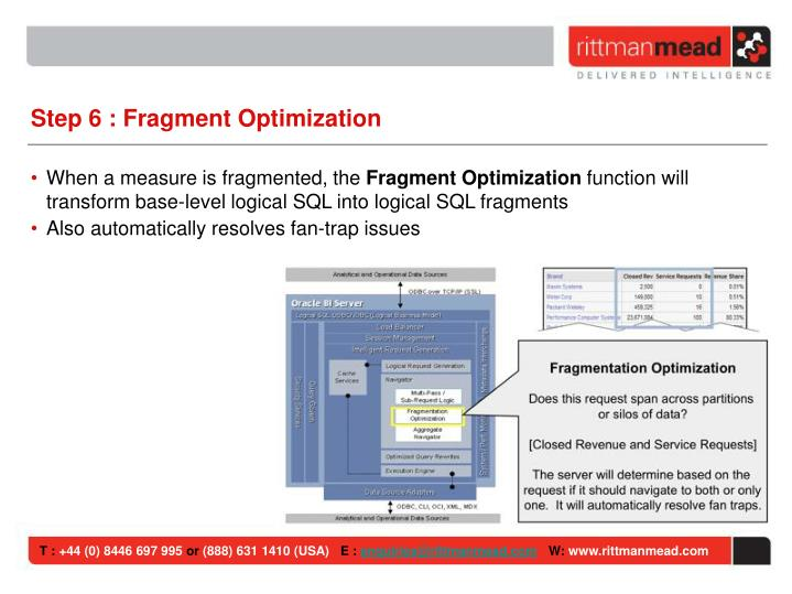 Step 6 : Fragment Optimization
