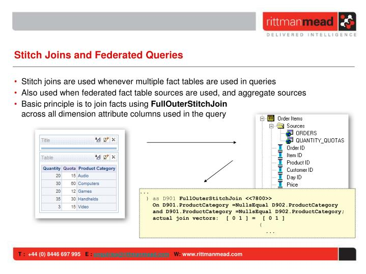 Stitch Joins and Federated Queries
