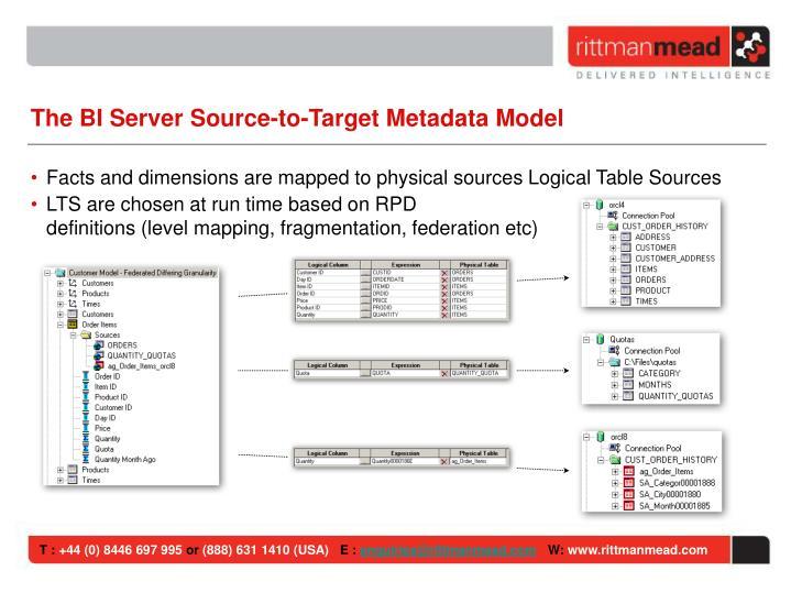The BI Server Source-to-Target Metadata Model