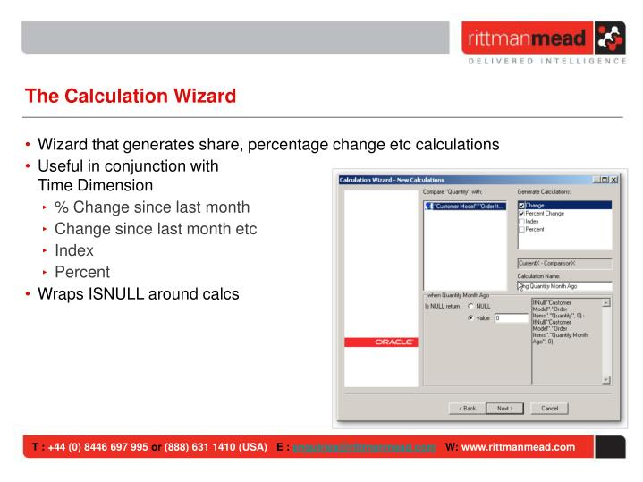 The Calculation Wizard