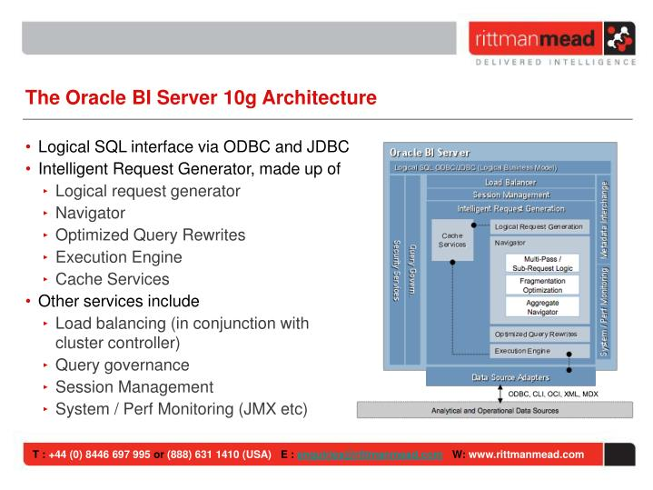 The Oracle BI Server 10g Architecture