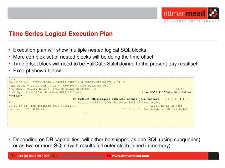 Time Series Logical Execution Plan