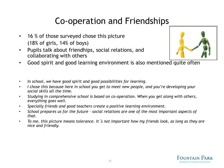 Co-operation and Friendships