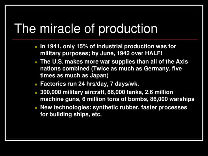 The miracle of production