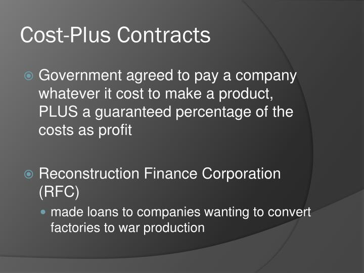 Cost-Plus Contracts