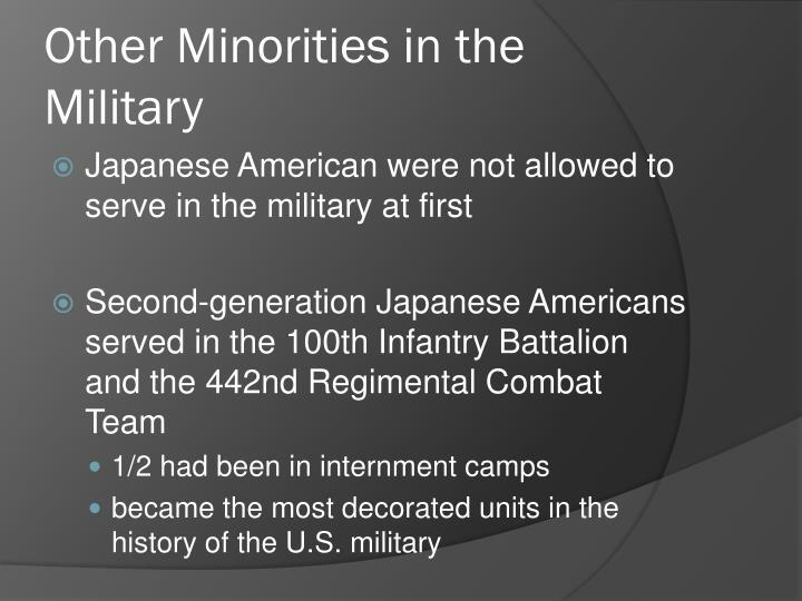 Other Minorities in the Military