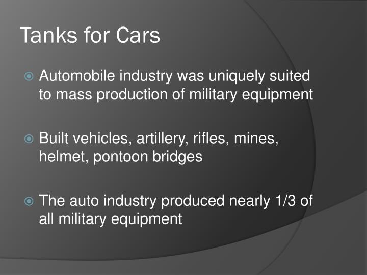 Tanks for Cars
